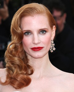 jessica chastain old Hollywood glam