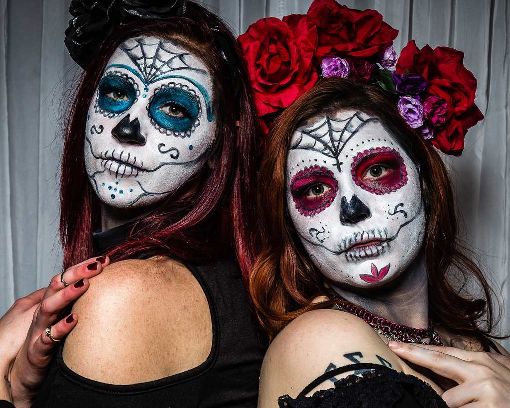 Skull/ Sugar Skull Face Makeup